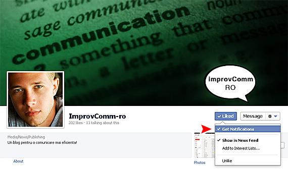 Optiunea de notificari despre mesajele publicate de pagini permite fanilor sa fie la curent cu mesajele publicate de companii si vedete