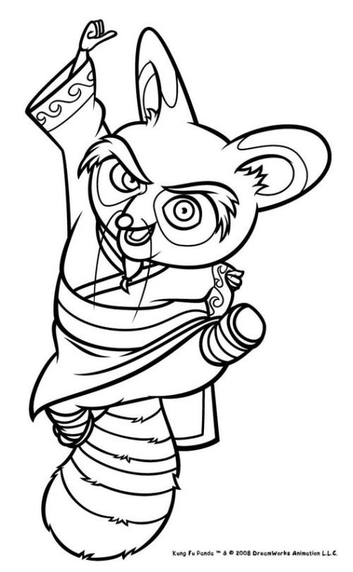 Kung Fu Panda para dibujar colorear imprimir recortar y pegar ...