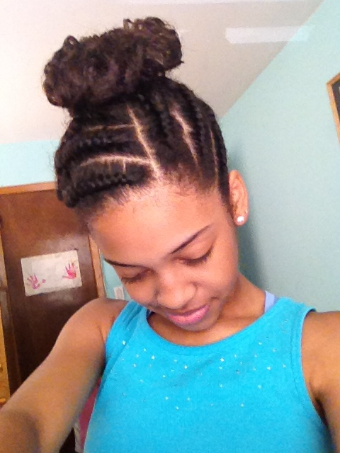 Cornrows Into High Bun Pin By Kristal Cason On Cornrows