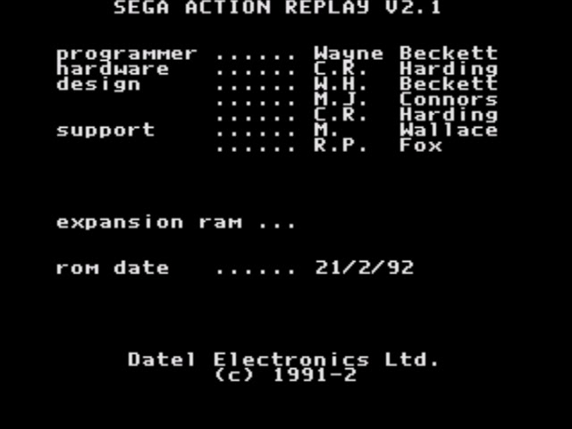 Emulation Hack Pro Action Replay Genesis