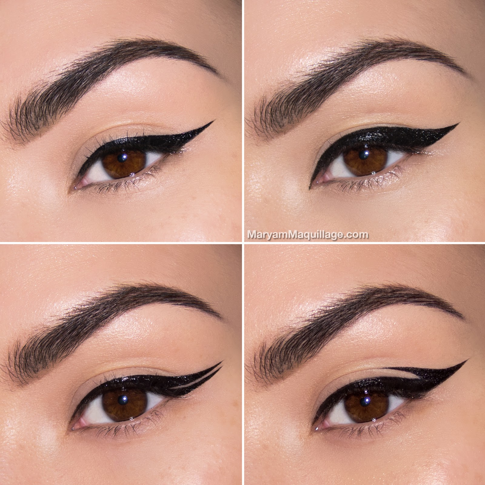 maryam maquillage makeup 101 cat eye brows. Black Bedroom Furniture Sets. Home Design Ideas
