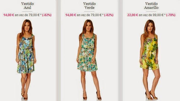 Vestidos estampados disponibles desde sólo 14 euros