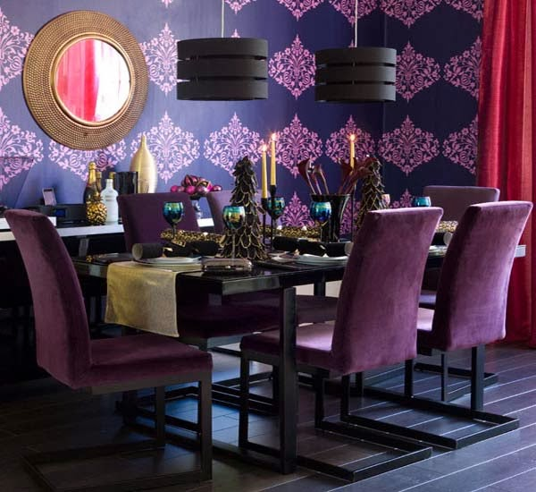 B b fashion house christmas dinning table decoration ideas for Glam dining room ideas