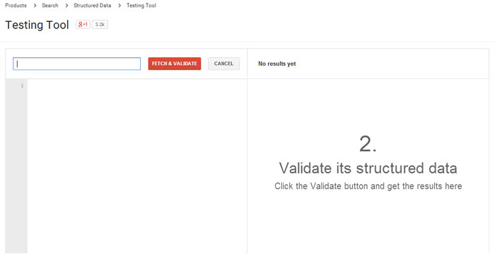 Google Structured Data Testing Tools