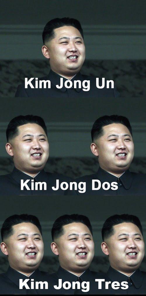 Kim Jong Un - Kim Jong Dos - Kim Jong Tres