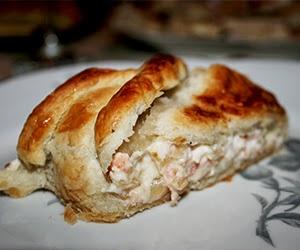 Hojaldre de salmón y queso