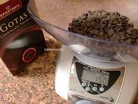 gotas de chocolate negro marca Valor