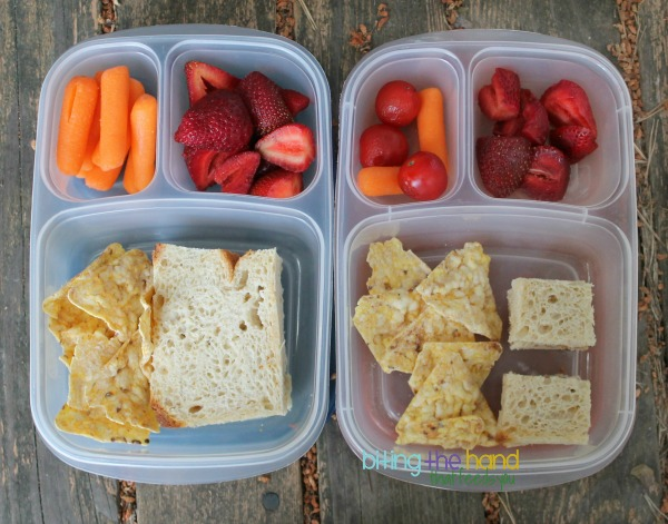 Quick and easy lunches with fresh u-pick strawberries!