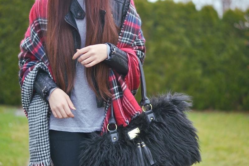 Outfit_Herbst_Winter_großer_XXL_Schal_Zara_Fake_Fur_tasche