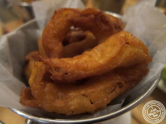 Image of onion rings at Island Burgers and Shakes in Hell's Kitchen, NYC, New York