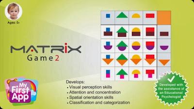 Aparece en la imagen una matriz de 4 por 4 y el logo de My First App