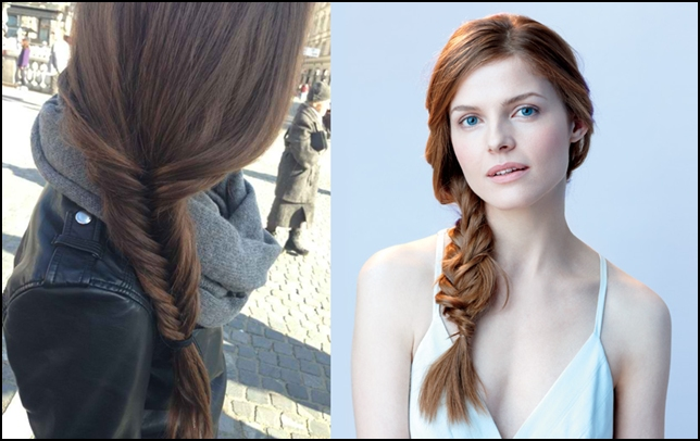 Side fish tail braid