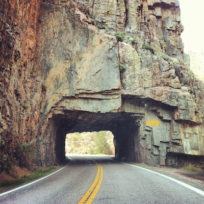 Poudre Canyon Tunnel, Highway 14 riding next to the Cache La Poudre River in Roosevelt National Forest #ColorfulColorado www.thebrighterwriter.blogspot.com