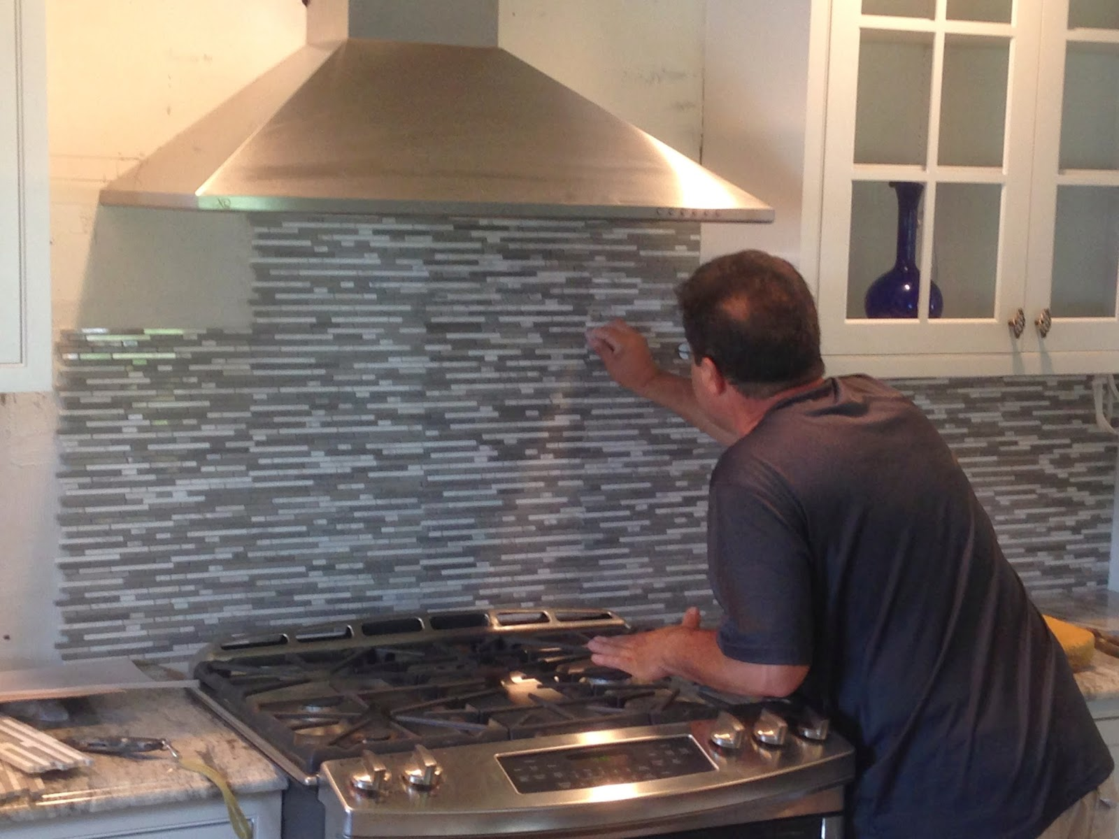 backsplash is Shore Stone from Mediterranean Tile in Fairfield, NJ