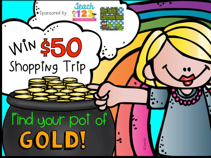 Teach 123 and Fern Smith's Classroom Ideas Tuesday Teacher Tip: St. Patrick's Day $50 TeachersPayTeachers Shopping Trip!