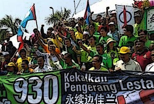 Protes projek Rapid Pengerang... Ada orang UMNO tumpang sekaki?
