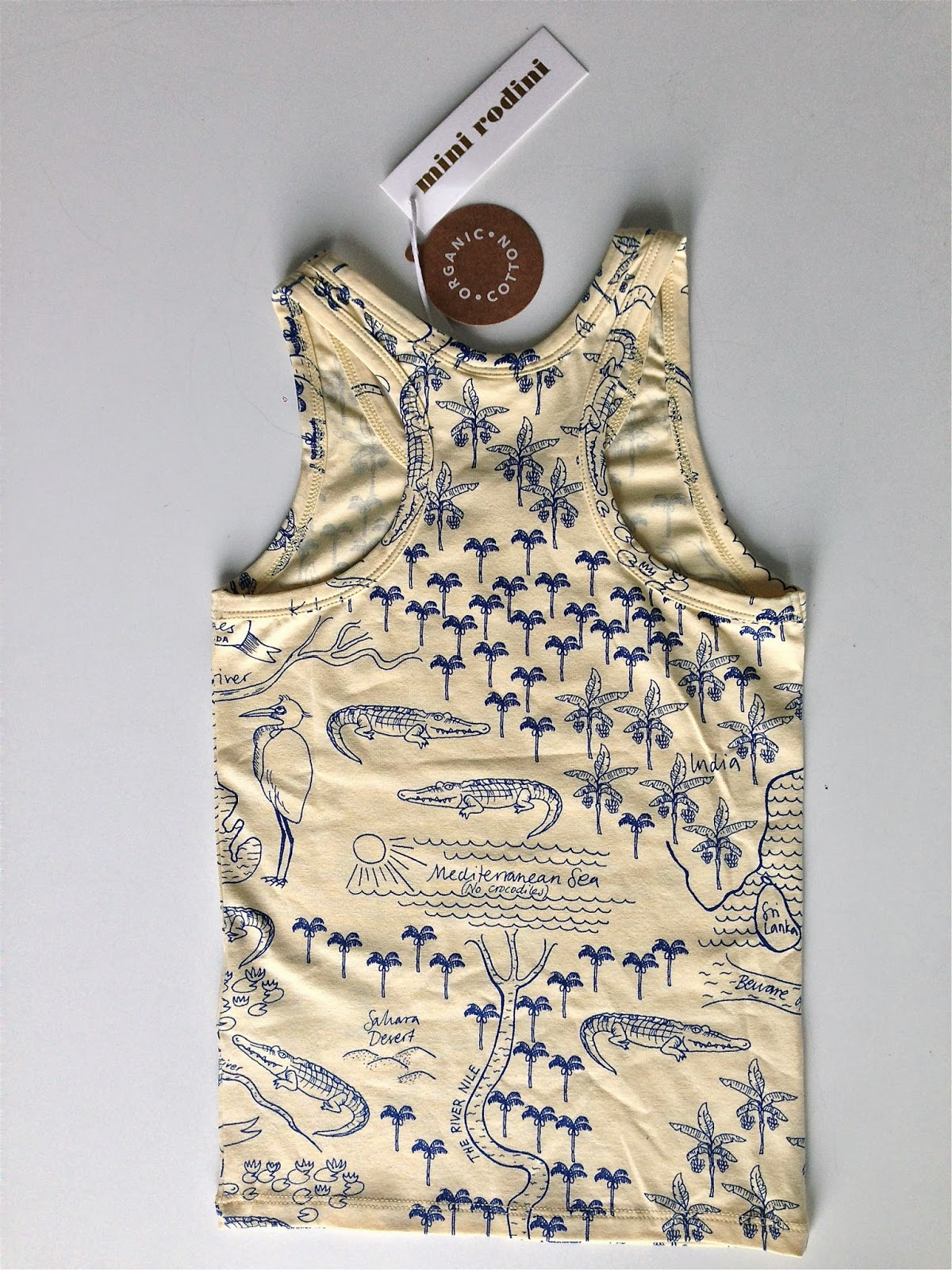Mini Rodini ss15, croco map tank