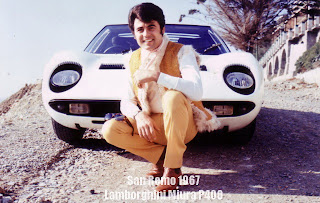 Little Tony with his Lamborghini
