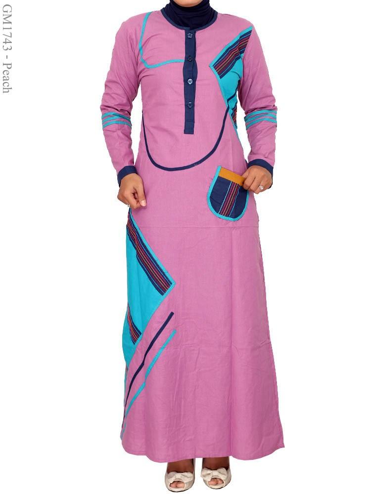 Model Gamis Katun Murah Pink Terbaru 2016