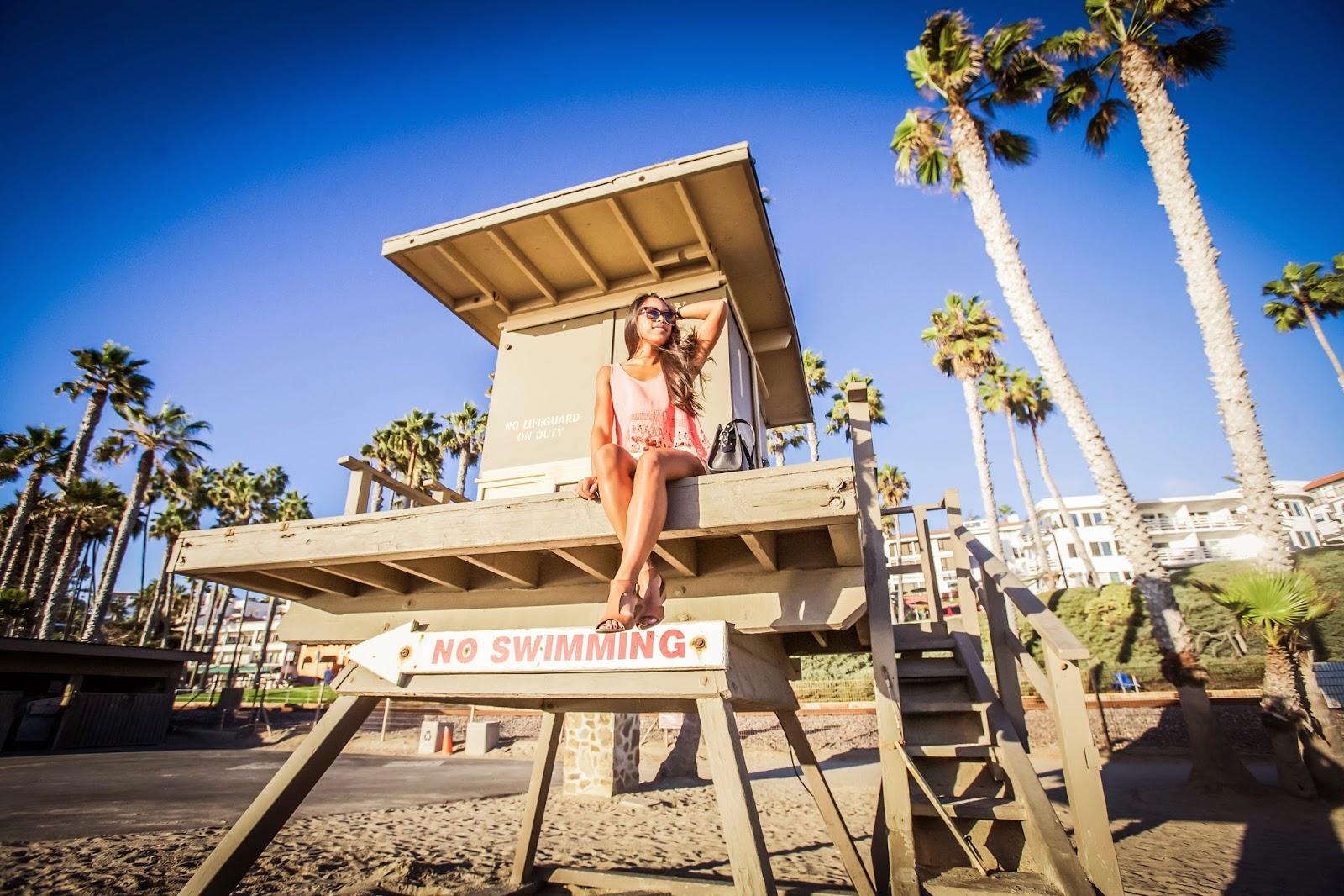 The San Clemente Beach Scene