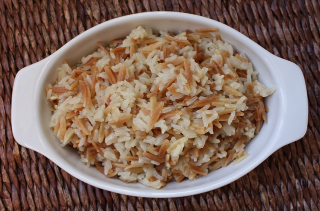 Rice Pilaf recipe by Barefeet In The Kitchen