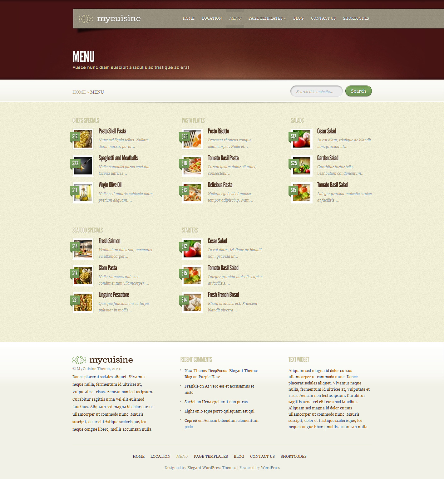Menu-List-of-Restaurant-WordPress-Template