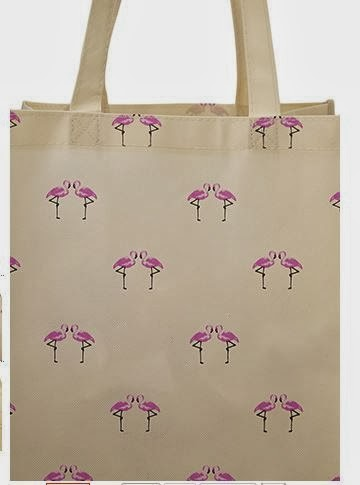 Forever 21 flamingo shopper tote