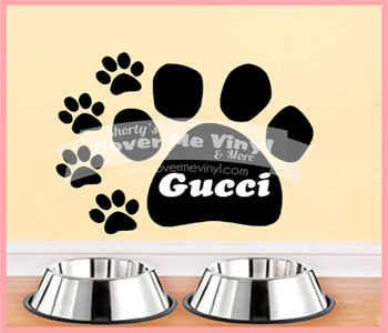 Name Paw Wall Decal