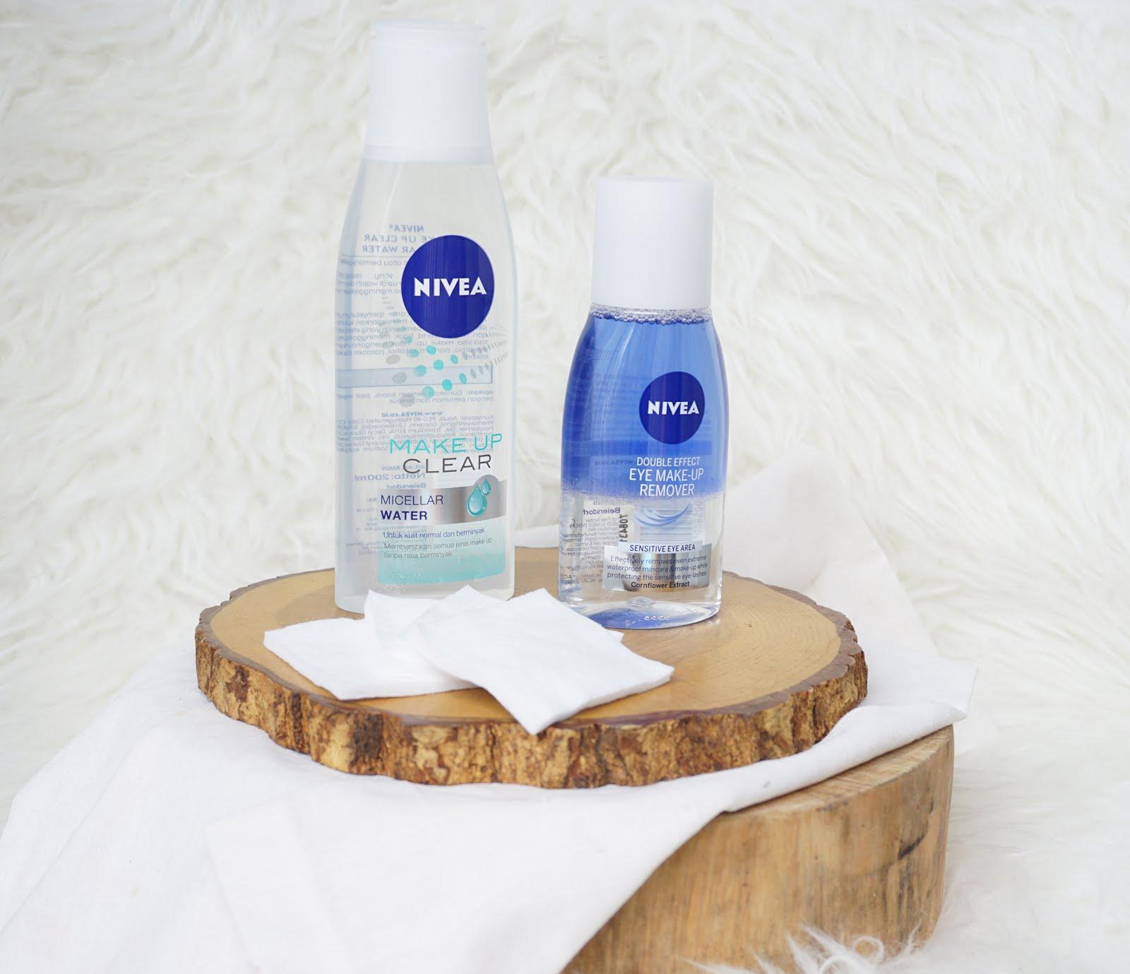 Review Nivea Micellar Water Nivea Double Eye Make Up Remover