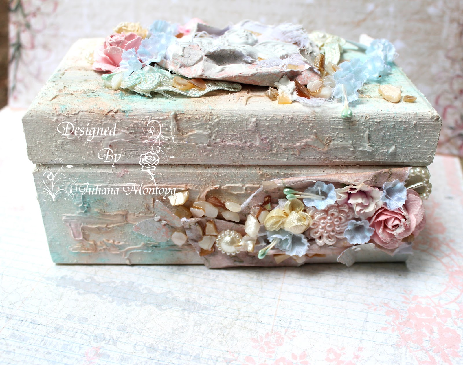 shabbychicjcouture shabby chic mixed media keepsake box. Black Bedroom Furniture Sets. Home Design Ideas