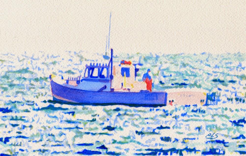 Fenris II - Watercolor by Paul Sherman