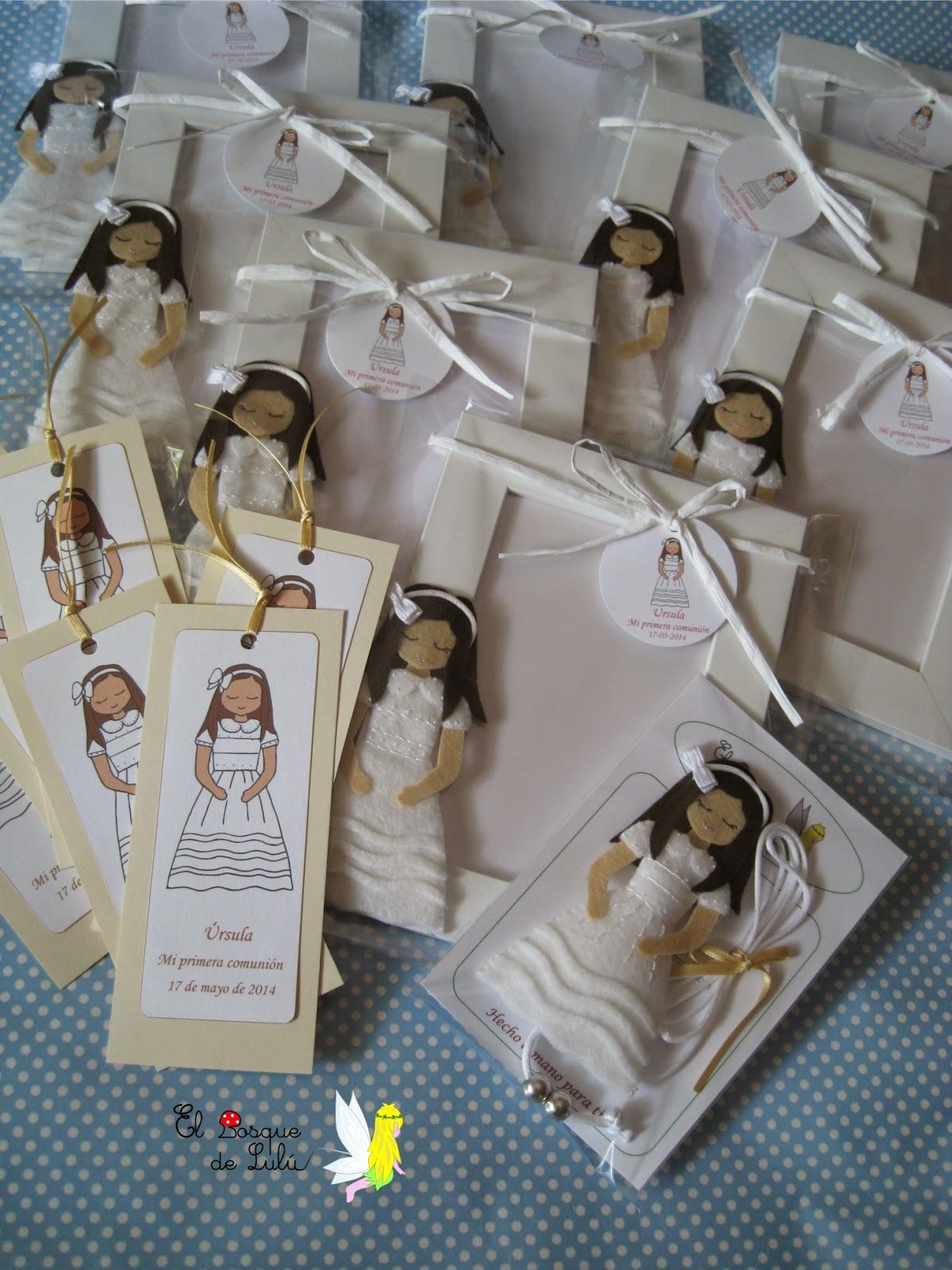 regalos-comunión-personalizado-fieltro-marco-foto-recordatorios-marcapáginas-collar-muñeca