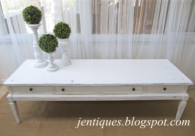 Jentiques White Shabby Chic Coffee Table