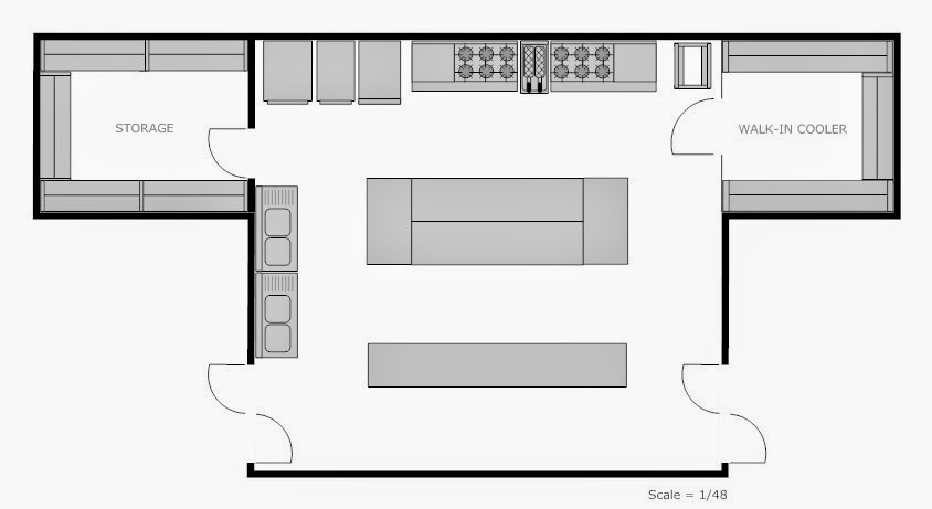 Foundation Dezin Decor Professional Kitchen Layout
