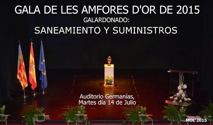 14.07.15 GALA DE LES AMFORES D'OR DE 2015