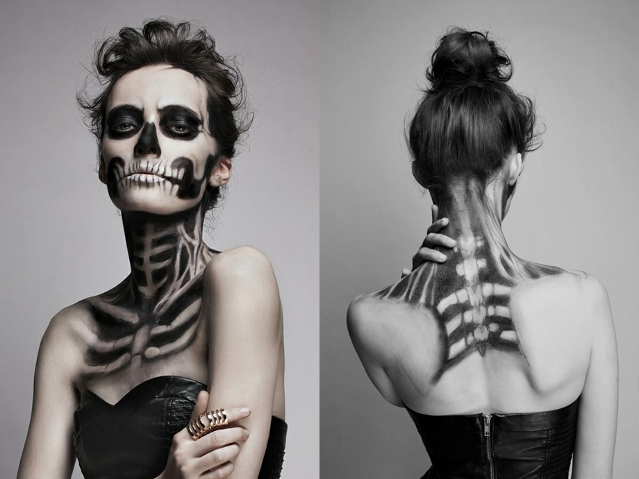 Halloween costumes and makeup ideas Halloween music too - Skeleton Halloween Makeup