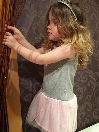 falda tul rosa palo