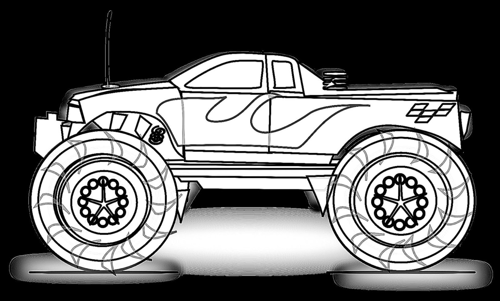 Monster Truck Coloring Pages For