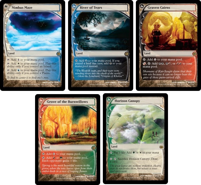 These are Rare lands that are able to add two colors of mana to their controlleru0027s mana pool u2014 Graven Cairns Grove of the Burnwillows Horizon Canopy ...  sc 1 st  MTG Realm & MTG Realm: Theros Rumors