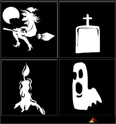 halloween icons, halloween symbols, free vectors