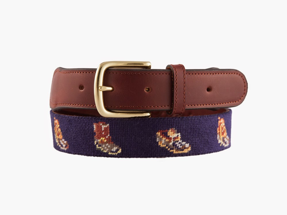 Tuckerblair Bean Boot Needlepoint Belt