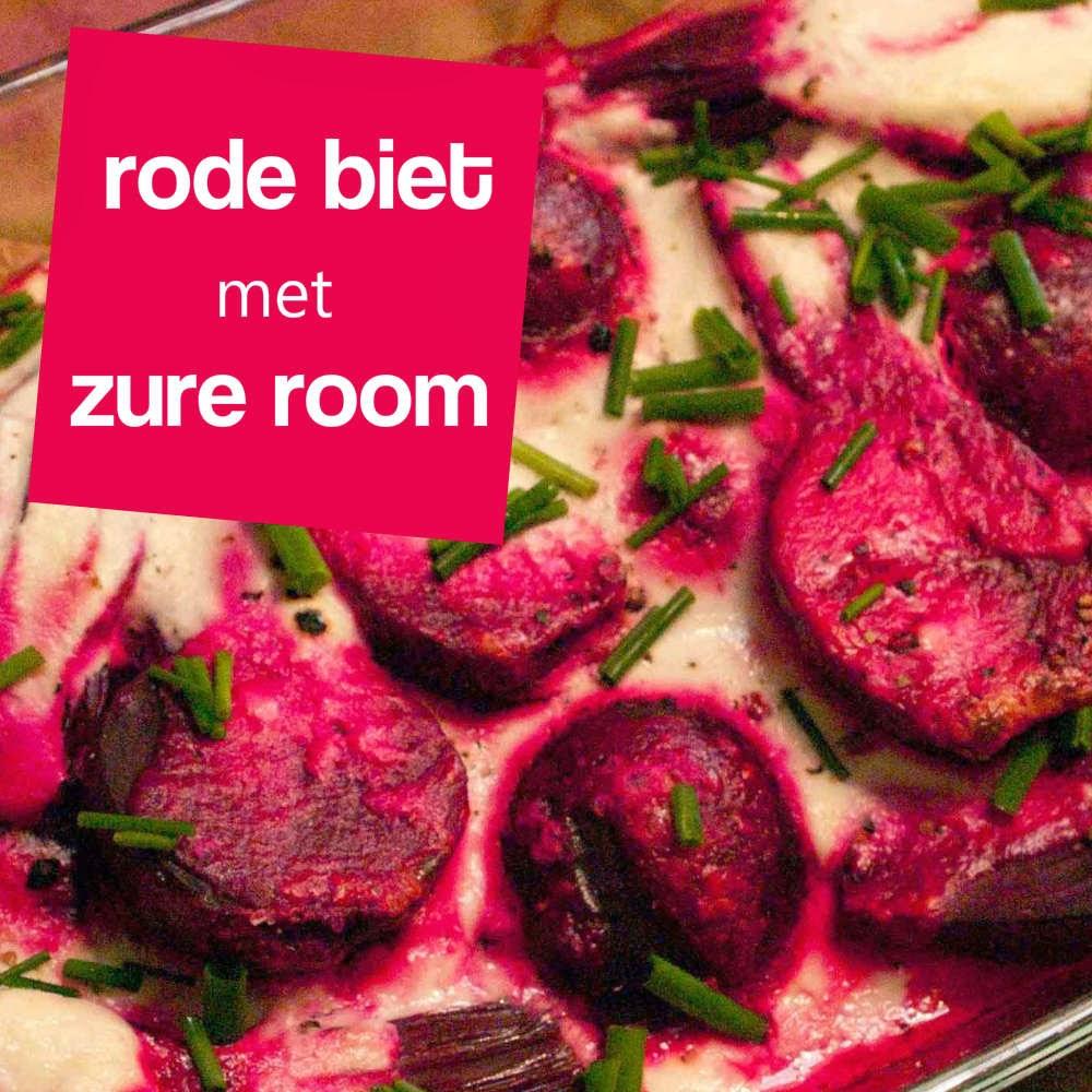 recept rode bietjes met zure room