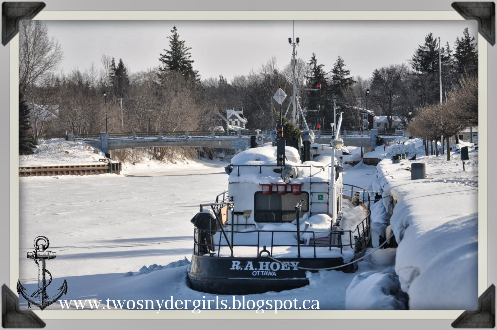 Meaford Ontario Harbour Ships at winter