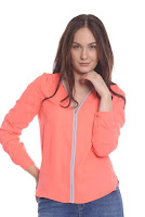 Bluza eleganta corai AM-10206 (Ama Fashion)