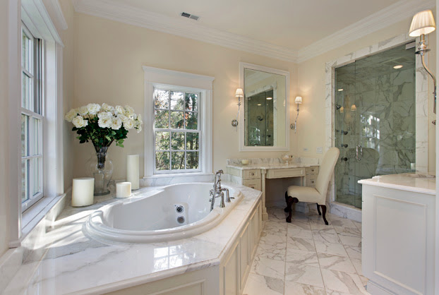 Banheiros com Banheiras! 30 Modelos maravilhosos!  Decor Salteado  Blog de  -> Banheiro Com Chuveiro Na Banheira