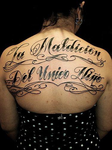 Women tattoo font