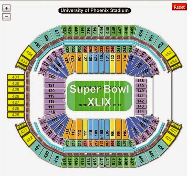 Super Bowl 2015 Stadium Seating Plan