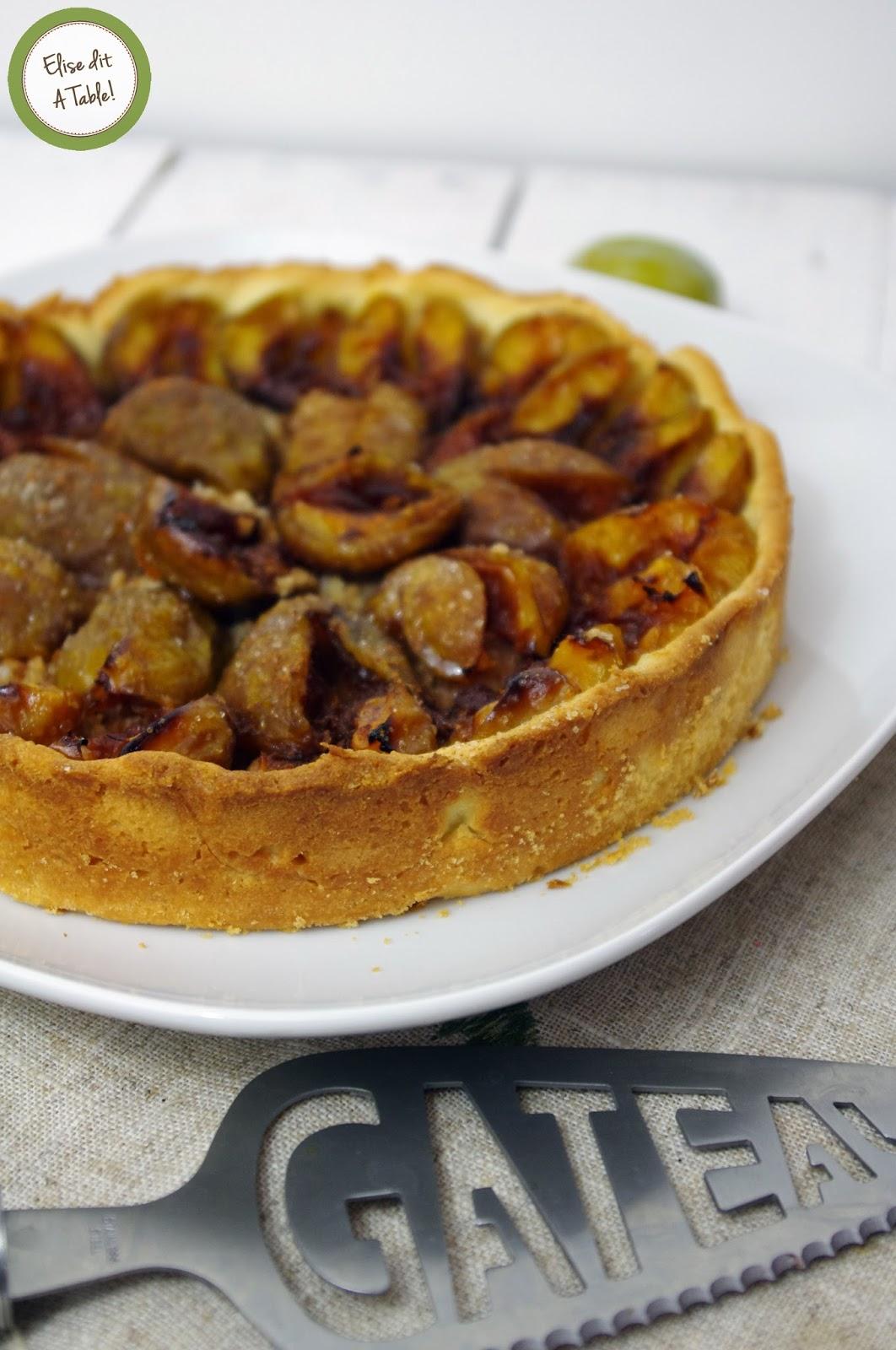 recette Tarte aux prunes