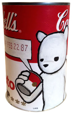 &#8220;EXP FEB 22 87&#8221; Custom Campbell Soup Can by Luke Chueh
