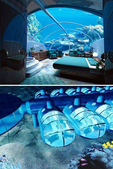 Underwater Hotel Rooms Fiji Posted By Showme